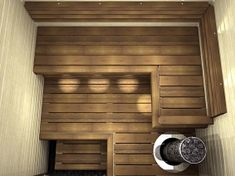 Nagare D laude Saunas, Building A Sauna, Indoor Sauna, Sauna Design, Bedroom Light Fixtures, Sauna Room, Bathroom Toilets, Cozy Place, Interior Decorating