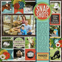 #papercraft #scrapbook #layout  Snapshots - Two Peas in a Bucket