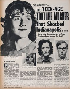Actual Crime Scene Photos Of Sylvia Likens The victim, sylvia likens, Sylvia Likens, Famous Murders, Monster Under The Bed, American Crime, Cold Case, Teenage Years, Scene Photo, Criminal Minds, Serial Killers