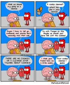 Brain suggests an idea for healthy living The Awkward Yeti comics