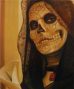 Day Of the Dead day-of-the-dead-girls. This makeup is amazing!