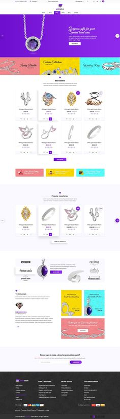 Pixelstore is clean and modern design PSD #theme for stylish eCommerce #jewellery shop website with 4 homepage layouts and 32 layered PSD pages to live preview & download click on Visit  #psdmockups