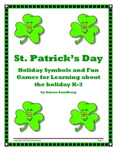 St. Patrick's Day Fun Games for K- 3