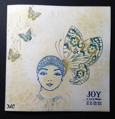 Chocolate Baroque - Katya, Patchwork Butterfly, Word of Inspiration  stamps