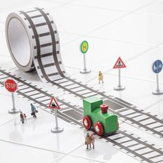 road or train track sticker roll by harmony at home children's eco boutique | notonthehighstreet.com