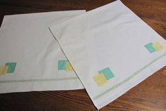 Vintage Handmade Towels Vintage Kitchen Towel Appliqued