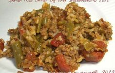 spanish   Rice Recipes for Dinner | Spanish Rice Dinner - RecipeZazz | Ground Beef Recipes
