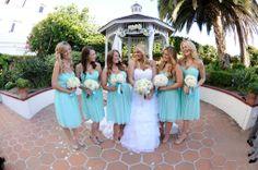 Bride + Bridesmaids - Tiffany Blue Bridesmaid Dresses - Donna Morgan Spearmint Bridesmaid Dresses #bridesmaids #tiffanybluedresses #spearmintwedding