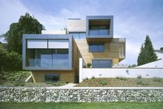 Wood. Bauart Architects have designed the A+P House in Meilen, Switzerland.