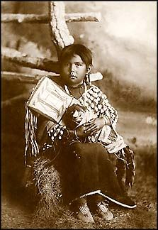 Crow maiden with doll, 1878.  Photo by Orlando S. Golf.