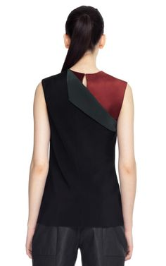 Matte Silk Crepe Blouse by Narciso Rodriguez back view