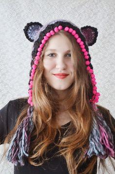 Hand+knitted+hat+Lovely+Bear+by+irinacarmen+on+Etsy,+$46.00