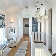 Wallpapered Elevator  |  Charleston Beach House