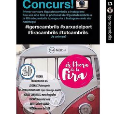 #Repost @igerscambrils (via @repostapp) ・・・ Tenim obert un concurs a #instagram T'apuntes?  Bases concurs: 1-Feu-vos una fotografia al #photocall de @GuíaTotCambrils al estand del pavelló cobert de la @fira_cambrils 2-pengeu-la a Instagram amb hastag #igerscambrils #xarxadelport #totcambrils 3-Seguir a @igerscambrils @xarxadelport i @guiatotcambrils  Tens temps fin dilluns a les 00.00h i entre tots els participants farem un sorteig d'un LOT de productes #xarxadelport, obsequi de:  @monsac96…