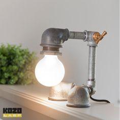 Galvanized iron pipe lamp from Kozo Lamp