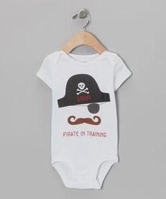 Love this MyLucysLoft White 'Pirate in Training' Bodysuit - Infant by MyLucysLoft on #zulily! #zulilyfinds