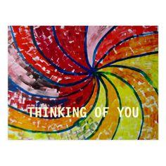 THINKING OF YOU POSTCARD #design #art #greetingcard #cards #postcard Design Thinking, Thinking Of You, Succulents Diy, Postcard Size, Paper Texture, Buy Art, Modern Art, Cool Art