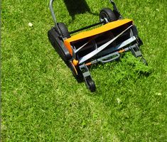 A Fiskars Reel mower, for the new place