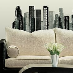 Nice and only $21.49 <3 Cityscape Giant Wall Decal