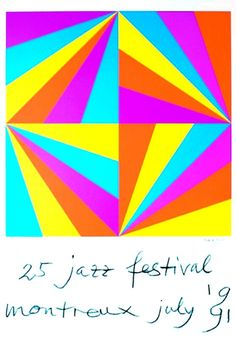 Max Bill - poster Montreux Jazz Festival 1991