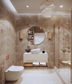 Washroom Design, Bathroom Design Luxury, Modern Bathroom Design, Home Interior Design, Modern Toilet Design, Modern Marble Bathroom, Beige Bathroom Furniture, Luxury Toilet, Bathroom Design Inspiration