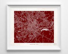 Norwich Street Map Print