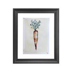 Vegetable Pigment Carrot Art Print