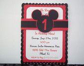 Mickey Mouse Birthday Invitation.
