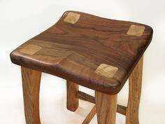 Custom Made The Stool - Backless In Walnut & Oak