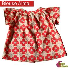 top ALMA free sewing pattern 3mo-2years French