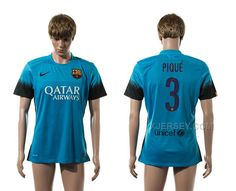 http://www.xjersey.com/201516-barcelona-3-pique-third-away-thailand-jersey.html 2015-16 BARCELONA 3 PIQUE THIRD AWAY THAILAND JERSEY Only 33.11€ , Free Shipping!