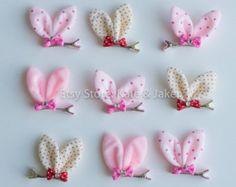 Bunny Ear Hair Clips  Easter Bunny Hair Clip  Bunny Ear