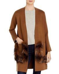 Lea Fur Pocket Cardigan
