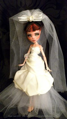 Monster High Wedding Dress by butterflyindisguise on Etsy, $25.00