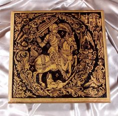 Medieval Knight Returns woodburned plaque by wildwood on Etsy