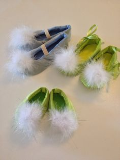 Tinkerbell Costume shoes Tink green fairy pixie by Petiteleon, $49.99