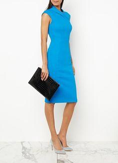 Midi jurk blauw