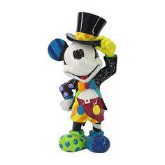 "Disney by Romero Britto Noviteiten ""Mickey with Top Hat"" Mickey in elegante uitvoering met hoge hoed Hoogte 23 cm was last modified: april 2020 Mickey Mouse Vintage, Disney Mickey Mouse, Mickey Mouse Figurines, Disney Vans, Disney Figurines, Collectible Figurines, Minnie Mouse, Walt Disney, Britto Disney"