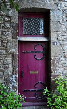 A purple door is supposed to indicate a witch's house...