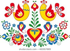 Find Moravian Folk Ornament stock images in HD and millions of other royalty-free stock photos, illustrations and vectors in the Shutterstock collection. Thousands of new, high-quality pictures added every day. Folk Art Flowers, Flower Art, Diy Tie Dye Techniques, Bordado Popular, Polish Folk Art, African Crafts, Folk Embroidery, Plate Design, Stencil Diy