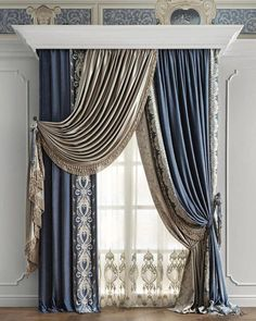 [New] The 10 Best Home Decor Ideas Today (with Pictures) - There are curtains in the windows of our eyes! Either we open these curtains and see the world or keep the curtains closed and see only the curtains! Elegant Curtains By Johanna . Bedroom Curtains With Blinds, French Curtains, Luxury Curtains, Elegant Curtains, Beautiful Curtains, Design Living Room, Living Room Decor, Rideaux Design, Curtain Designs