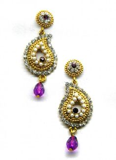 Vibrant Purple Earring Set