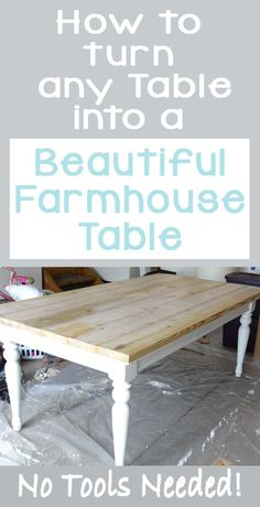 Beat up Table Turned Beautiful Farmhouse Table