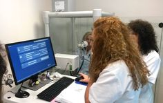 Pulmonary function testing with COSMED body plethysmography cabin at the Agios Savvas General Hospital Hellenic Institute Against Cancer (Greece) [photo courtesy: Serinth] Body Box, General Hospital, Lunges, Greece, Cancer, Health Fitness, Dreadlocks, Cabin, Hair Styles