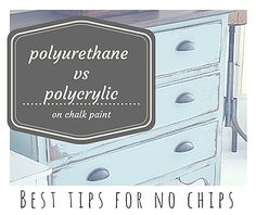 Polyurethane + Chalk Paint » What I Wish I'd Known   Healthy Mom