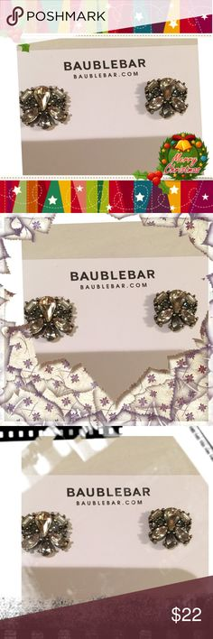 Tundra studs 2 This statement stud is necessary for work to play days. The neural palette gives a timeless air to vintage drama. Made from plated metal, acrylic, glass. Closure on backups post measurements length .85in. width .9., .15 oz medium Baublebar Jewelry Earrings