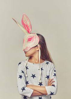 For the best range of children's fancy dress costumes, visit Smallable: Find select brands like Meri Meri, Doiy and Numero Over 600 brands. Fancy Dress Masks, Childrens Fancy Dress, Rabbit Head, Kids Dress Up, Carnival Masks, Dress Up Costumes, Mask For Kids, Masks Kids, Color Rosa