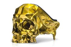 Skull Armchair Faceted Handcrafted with Black Velvet Seat 7