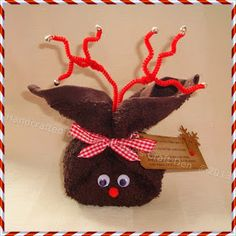 Reindeer washcloth and soap