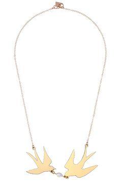 ROMWE | 10×1 Brand Double Swallows Golden Collar Bar